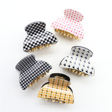 3pcs/set Hight Quality Acrylic Sent Random Hawksbill Turtle Houndstooth Sequins Hair Clip Claw For Women Girl Accessories