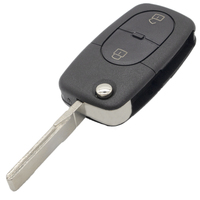 2 3 3 WhatsKey 2 3 Button Folding Key Case Shell Fob For Audi A4 A6 A8 TT Quattro RS4 With Logo (1)