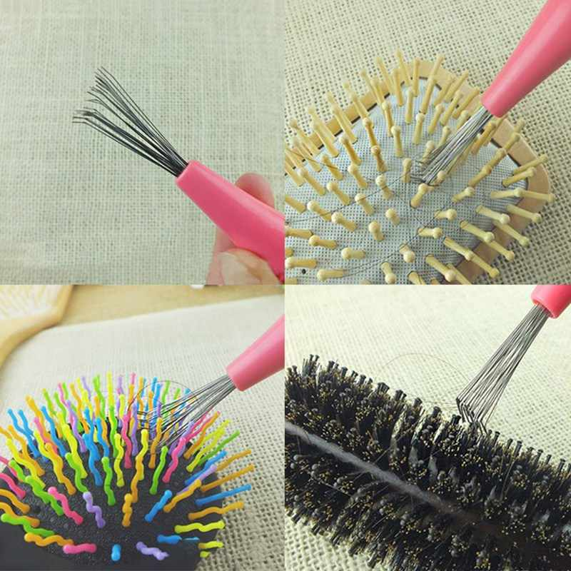 Kamm Haar Pinsel Reiniger Reinigung Remover Embedded Schönheit Werkzeuge Kunststoff Griff Kostenloser Versand
