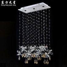 chandelier light crystal  LED lamp butterfly design hanging light restaurant lighting L60*W25*H90cm
