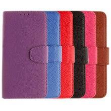 Caso capa para o LG Fundas Alegria H220 Y30 Leather flip Titular do Cartão carteira Lichia Acessórios Do Telefone Móvel Telefone Caso Coque Capa