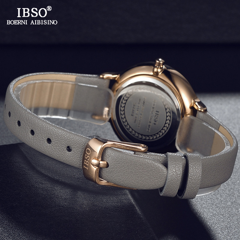 IBSO Brand Simple Women Wrist Watches Leather Strap Relogio Feminino Fashion Ladies Quartz Watch Women Montre Femme 2018 Clock