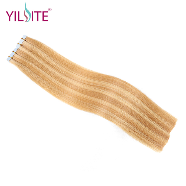 Aliexpress Buy Yilite Double Sided Tape Hair Extensions 20pcs