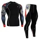 Life on track hombres ropa deportiva de compresión Camisas y Medias conjunto cyclinging ropa interior ropa del entrenamiento - 1