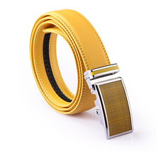Luxury Unisex Genuine Leather Automatic Buckle Belt