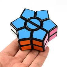 1Pcs 2 Layers Hexagonal Magic Cube Speed Cubo Anti Stress Puzzle Cube Toy Educational For Children