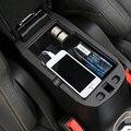 Novo para jeep renegado 2015 up car center console apoio de braço de armazenamento ABS caixa Preta Apoio de Braço Caixa de Armazenamento de Caixa de Luva Caixa de Armazenamento De Bandeja