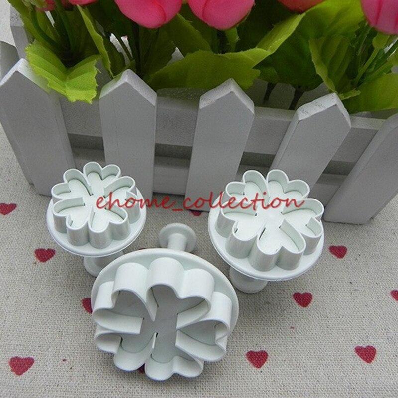 6 Pcs Daisy Fleur Fondant Cookie Cutters Moule DIY G?teau Décoration Outils BH