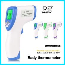 Джемпер термометр тела Температура пистолет ЖК-дисплей цифровой ребенка лихорадка измерения для взрослых и детей лоб бесконтактный инфракрасный DT-8809C