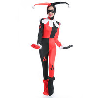 Halloween Harry Qinn Cosplay Costume Dress Uniform Hat + Patch + Neck Circumference + Conjoined Suit + Foot Sleeve