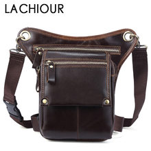 Designer Genuine Leather  Men Waists Bag Fashion Travel Fanny for Phone Pouch Male Messenger Bags Brand Pack