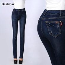 Mom Jeans 2017 Winter Warm Jeans Woman High Waist Jeans Thick Velvet Skinny Women Jeans Pants Plus Size Denim Pants