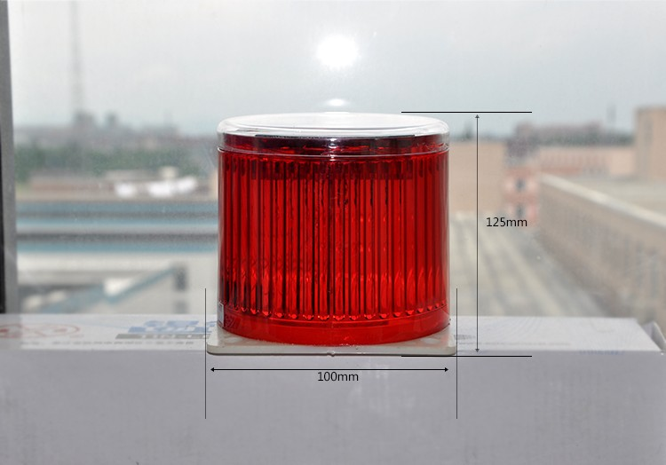 Red Solar Flasher LED Warning Beacon Light Operated Water Proof Marine Boat Emergency & Safety Lights