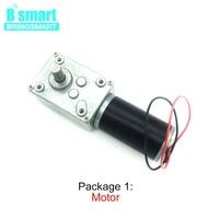 Bringsmart Worm Gear Motor 12V DC Motor 12rpm/min High Torque Motor Reversed Self Lock For Curtain Machine,Billboard Motor DIY