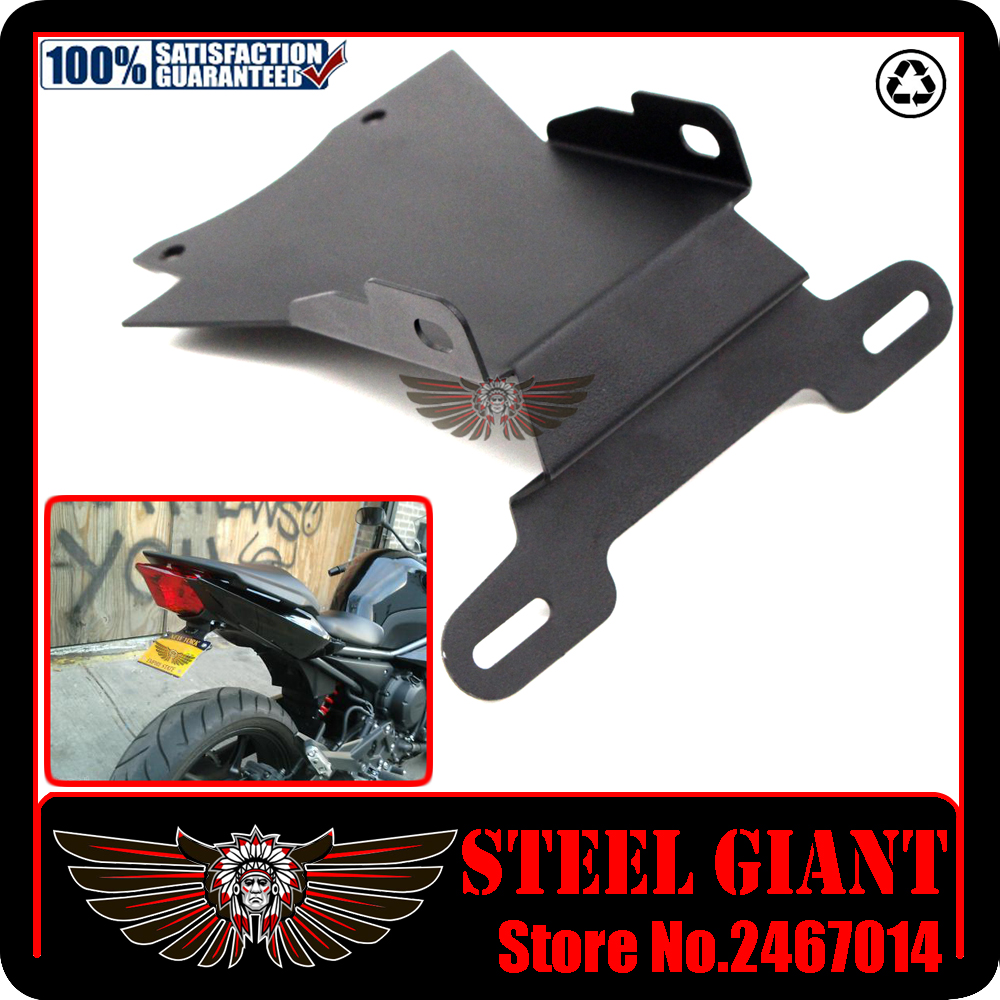fitsFor YAMAHA FZ6 N/S FZ6N FZ6S FZ-6N 2004-2009 Silver Motorcycle Tail Tidy Fender Eliminator Registration License Plate Holder aftermarket free shipping motorcycle parts eliminator tidy tail for 2006 2007 2008 fz6 fazer 2007 2008b lack