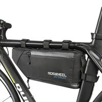 Bike Bicycle Cycling Bag Front Tube Frame Phone Waterproof Bicycle Bag Saddle Holder MTB Mountain Bike Cellphone Accessory