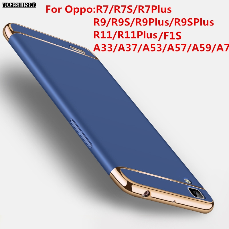 Brand Case for Oppo A33 A37 A53 A57 A59 A77 F1S R7 R7S R9 R9S R11 Plus Ultrathin Plastic Cover 360 Degree Protection Back Cover
