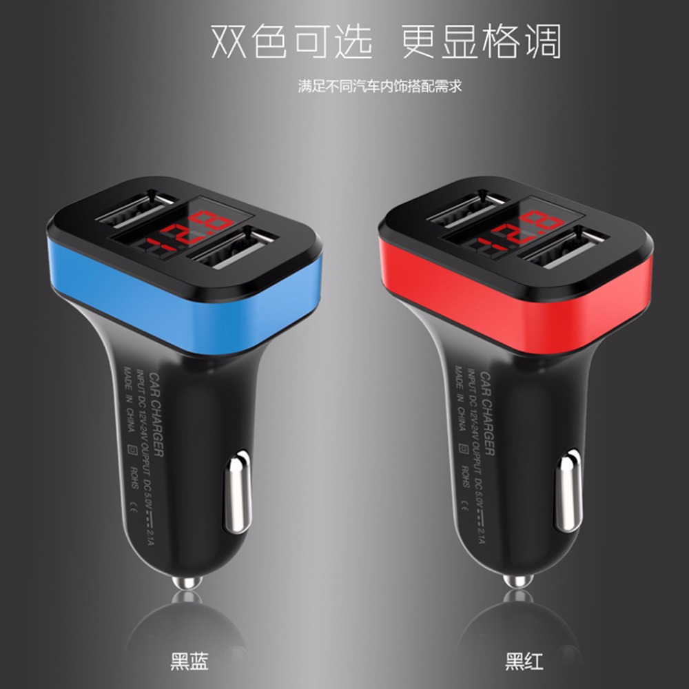 Mobile Phone Accessories The Best 2-port Usb Car Charger Led Voltmeter Adapter For Iphone Samsung Lg Mobile Phone Cellphones & Telecommunications