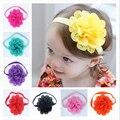 Venta caliente Venda Del Bebé Vendas Elásticos Del Pelo de los Bebés de las Vendas Recién Nacido Accesorios de Fotografía de La Flor Headwear