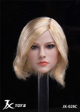 цена на 1/6 Head Sculpt Model JX-028A/B/C Female Head Carved Singer Avril Pale Skin for 12