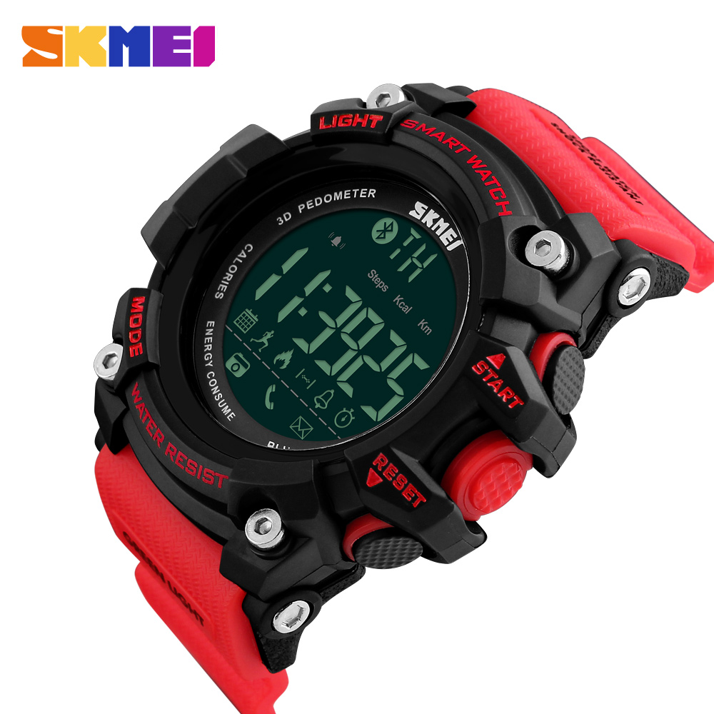 Men Digital Watches Smart Watch SKMEI Brand Fashion Big Dial Outdoor Sport Watches Chronograph 50M Waterproof Man Clock