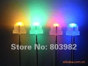 Factory wholesale RGB flashing led 4.8mm leds 3.0-3.5V strawhat milky white(fast Auto blinking led)