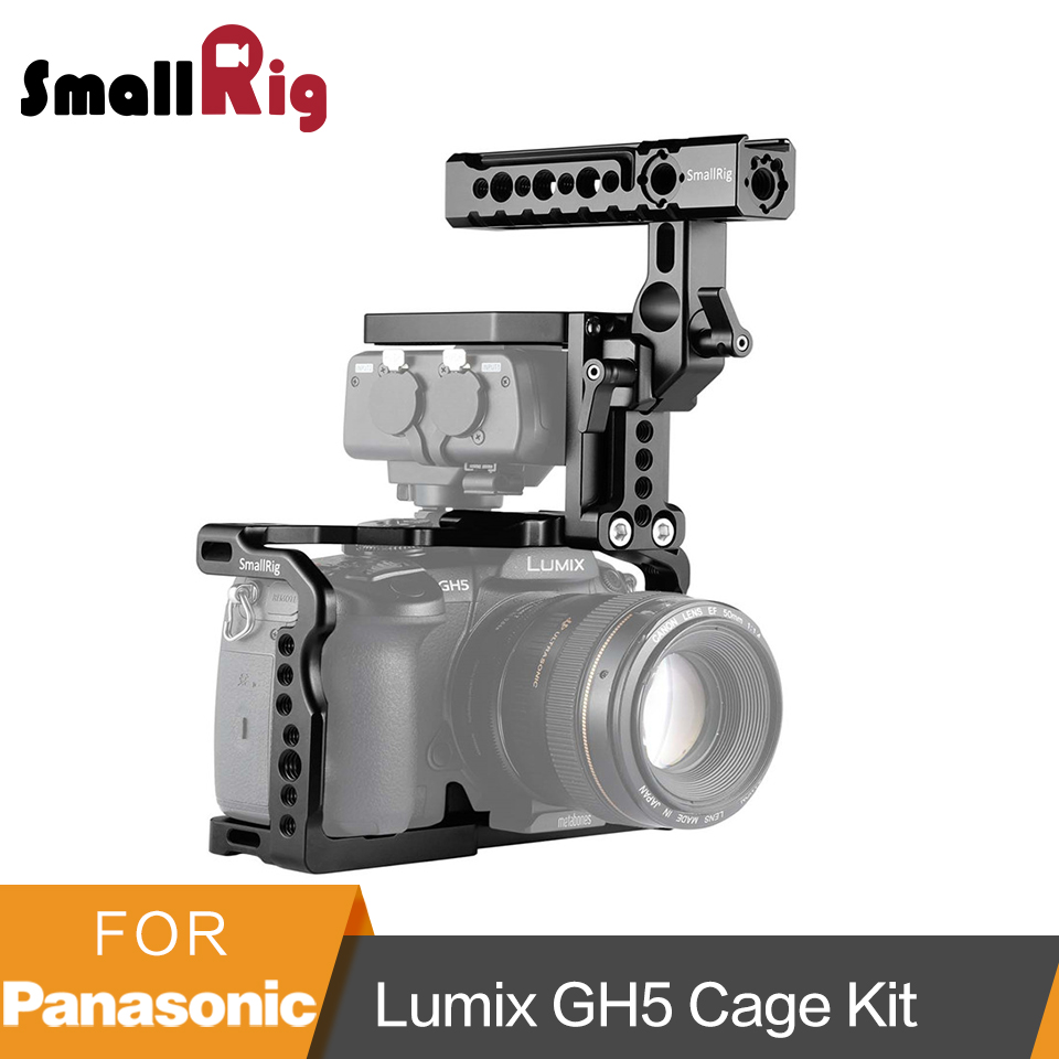 SmallRig Cage with Helmet Kit for Panasonic Lumix GH5 GH5S DMW XLR1 Cage With Top Handle