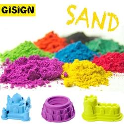 Jogar massa de areia mágica educacional areia dinâmica colorida arena indoor play crianças brinquedos para crianças espaço areia