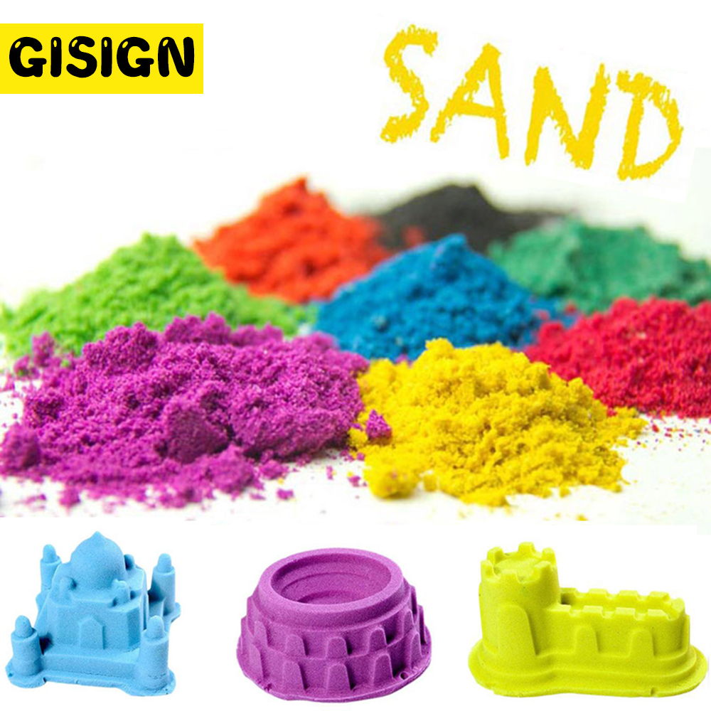 Play Dough Magic Sand Educational Colored Dynamic Sand Indoor Arena Play kids Toys for Children space sand small strain dynamic properties modeling for cemented sand