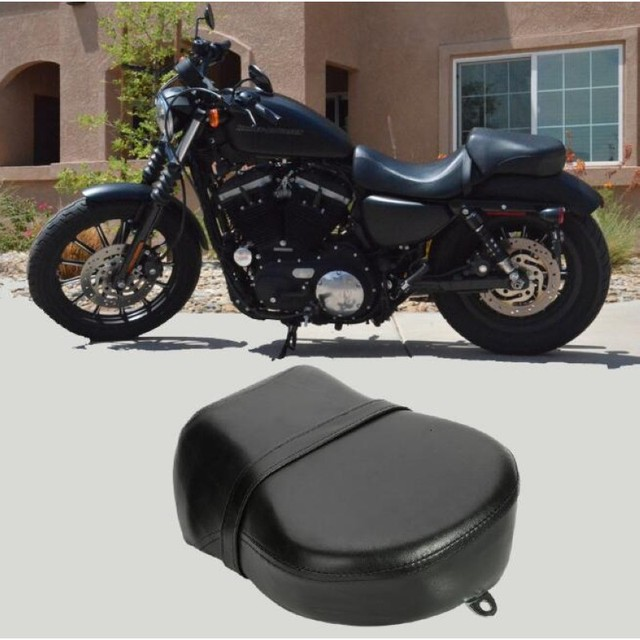 US $34 48 36% OFF|Motorcycle Rear Passenger Seat Cushion Pillion Leather  Pad Cover For Harley Davidson Sportster XL 883 1200 883XL XL1200 New on