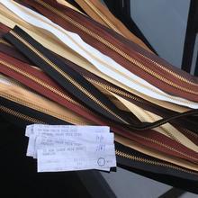 Genuine / YKK / gold copper / 3 # / 5 # bi-directional / code installed brass zipper / leather DIY no zipper head