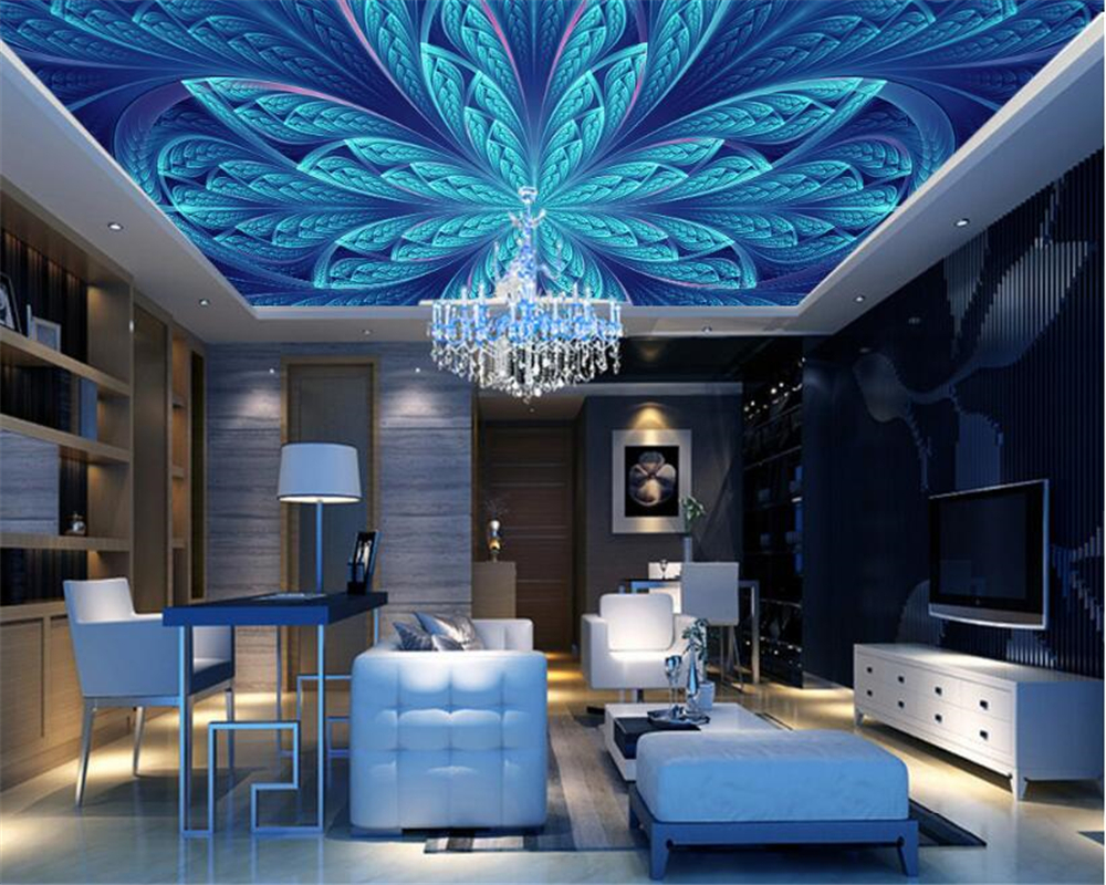 beibehang Can be customized fashion wallpaper hanging on the wall fresh ethnic style bedroom living room ceiling 3d wallpaper