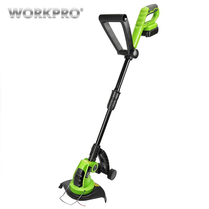 WORKPRO 18 V Lithium 2000 mAh coupe gazon sans fil poignées réglables outils électriques de jardin temps de charge 1 heure