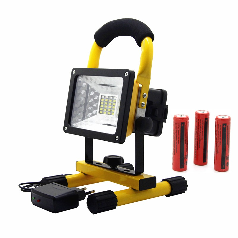 Portable IP65 24LED 30W Flood Light Waterproof Spotlights