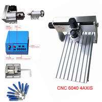 mini router cnc 6040 4th axis engraving machine