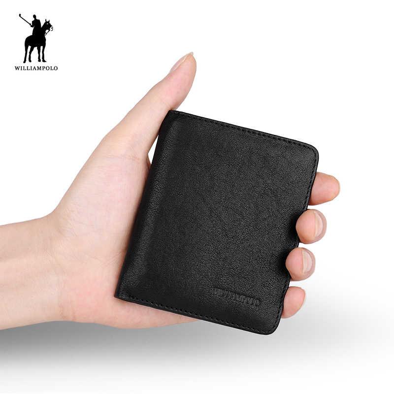 Мужской кожаный кошелек, модные визитницы, маленький кошелек, новый дизайн, кошелек с несколькими карманами, винтажный кошелек, PL267
