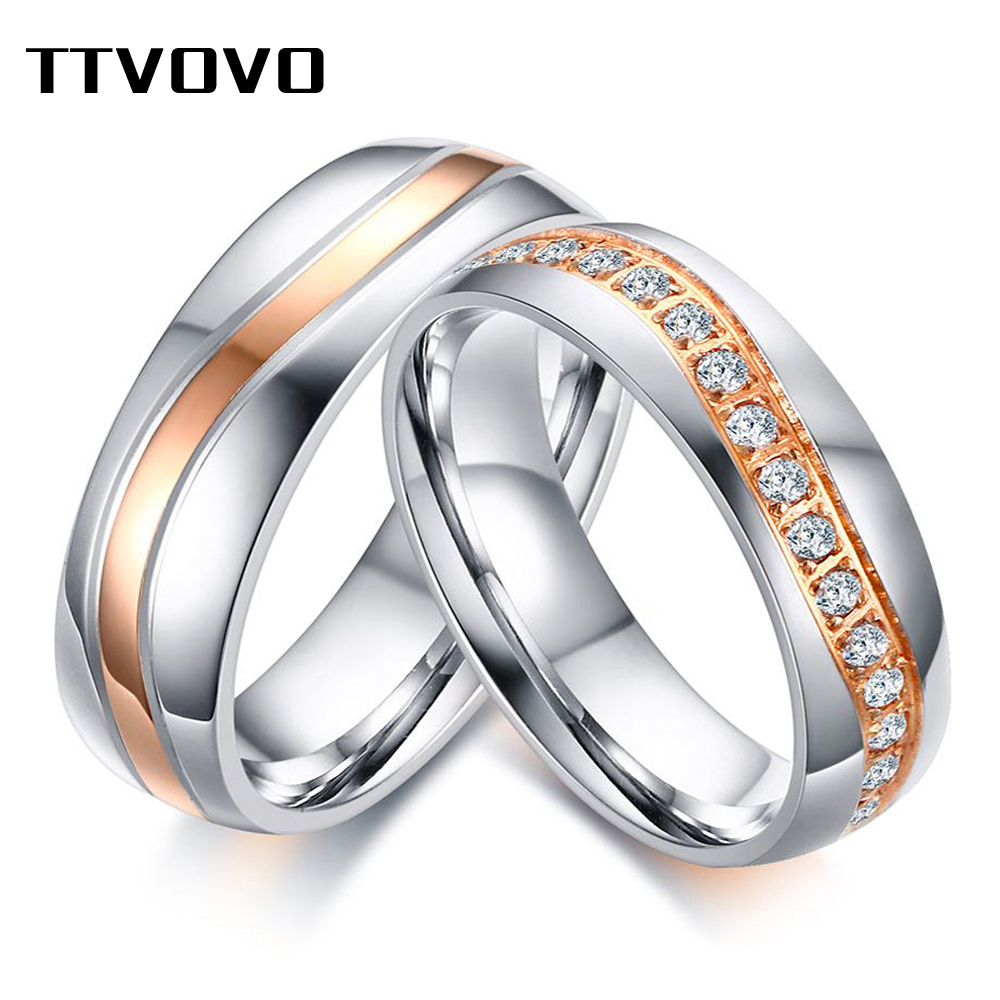 Qualified Ttvovo 6mm Aaa Cz Stones Wedding Rings Bands For Women Men Wave Line Alliance Couple Anniversary Promise Engagement Ring Bijoux Wedding Bands Back To Search Resultsjewelry & Accessories