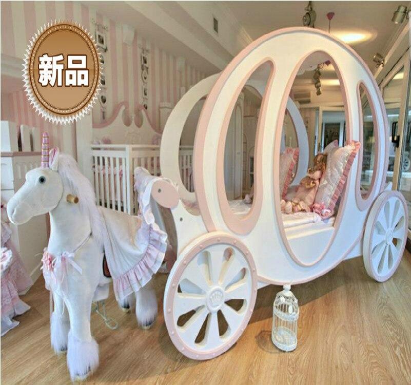 Princesse chariot enfants lit pour meubles de chambre d'enfant-donner un conte de fées pour les filles cama penteadeira chambre ensemble chambre enfant