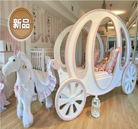 princess carriage kids bed for child room furniture give a fairy tale for girls cama penteadeira bedroom set chambre enfant