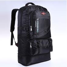 60L imperméable à leau hommes en nylon sac à dos voyage pack sac de sport pack en plein air alpinisme randonnée escalade Camping sac à dos pour homme