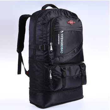 60L waterproof men nylon backpack travel pack sports bag pack Outdoor Mountaineering Hiking Climbing Camping backpack for male