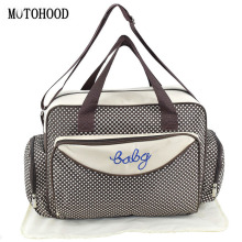 MOTOHOOD Baby Diaper Bag Organizer Baby Care Carriage Bag For Stroller Fashion Dot Multifunction Baby Bags For Mom 45*15*30cm