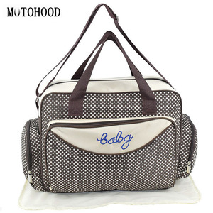 Image 1 - MOTOHOOD Baby Diaper Bag Organizer Baby Care Carriage Bag For Stroller Fashion Dot Multifunction Baby Bags For Mom 45*15*30cm