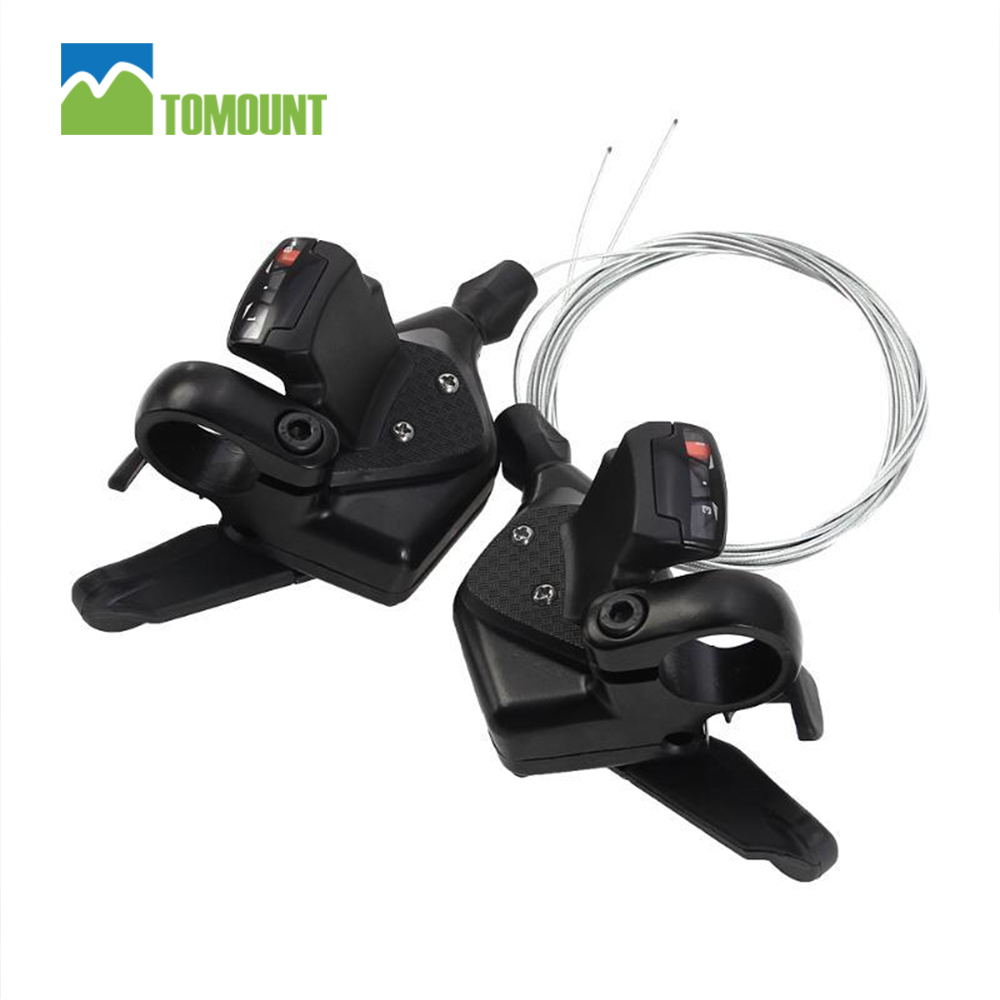 TOMOUNT MTB Shifter Lever 1Pair 3x8 Speed Bike Shifter Brake Lever Set Bicycle Cycling Disc Brakes Shift Cable Aluminum Alloy mountain bicycle shockingproof frame 21 speed gear shift 26 inch double disc brakes shifter set for shimano bike cycling bicicle