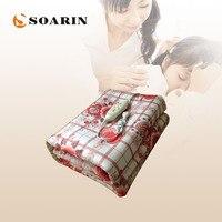 SOARIN Electric Blanket Single Electric Heating Blanket 220v 150 170 Manta Electrica Electric Heat Pad Warm