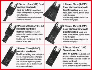 Image 2 - 11 pcs מהיר שינוי נדנוד רב כלי אביזרי להב מסור, טוב מחיר ומהיר devliery, לפיין כוח כלי, מתכת חיתוך