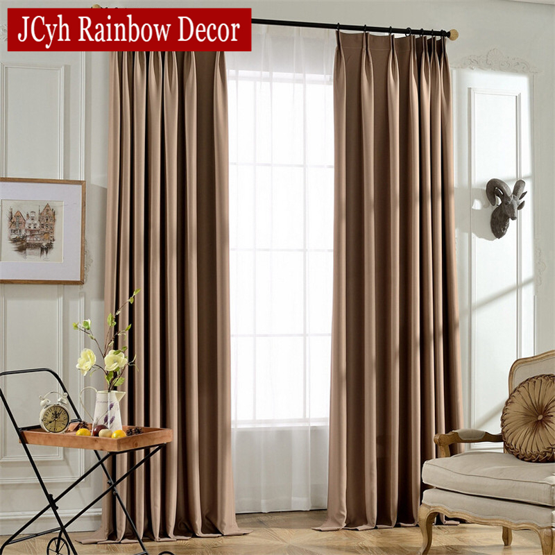 Modern Soild Colors Blackout Curtains For Living Room Bedroom Window Curtains For Children Gray Kitchen Curtains Blind Drapes