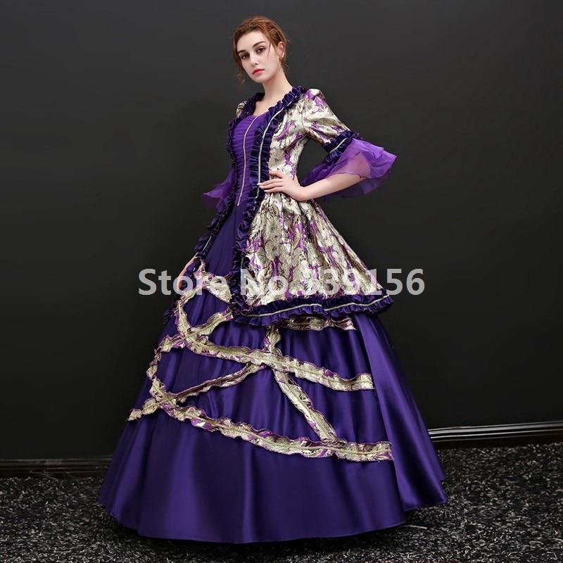 06900de9bde2a Gothic Victorian Purple Dresses Marie Antoinette Masquerade Dresses Upscale  Carnivale Ball Gowns