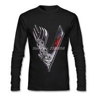 Men Tee Shirts Viking Cool New Coming Brand Clothing Casual Long Sleeve Man T Shirts XS