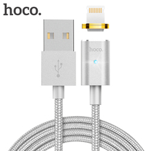 HOCO For Apple iPhone 7 6 5 5s 6s Plus Charging Cable 2.4A Fast Charge Data Cable Mobile Phone Charger Wire Magnetic LED cable